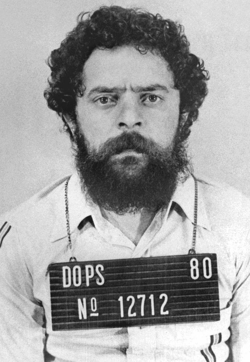 Lula fichado por el Departamento de Orden Política y Social (DOPS) donde estuvo preso durante 31 días en 1980. ARCHIVO INSTITUTO LULA