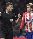 Antoine Griezmann podría dejar el Atlético la próxima temporada. (Foto Prensa Libre: AFP)