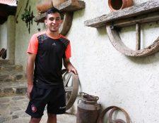Benedicto Aldana sueña con trascender en el futbol a escala nacional e internacional. (Foto Prensa Libre: Eduardo Sam Chun).