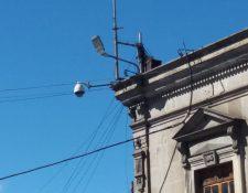 Se tiene previsto que concluya el año con el 60 por ciento de funcionamiento de cámaras de vigilancia en Xela. (Foto Prensa Libre: Raúl Juárez)