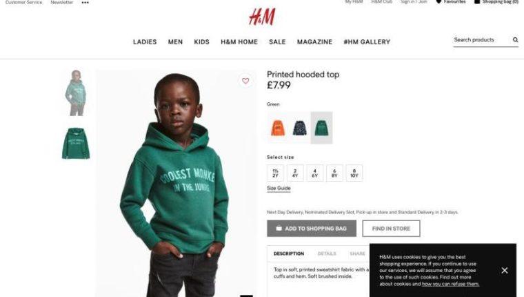 Campaña de la empresa de modas H&M desató miles de críticas de internautas, quienes la consideraron racista. (Foto Prensa Libre: Twitter)
