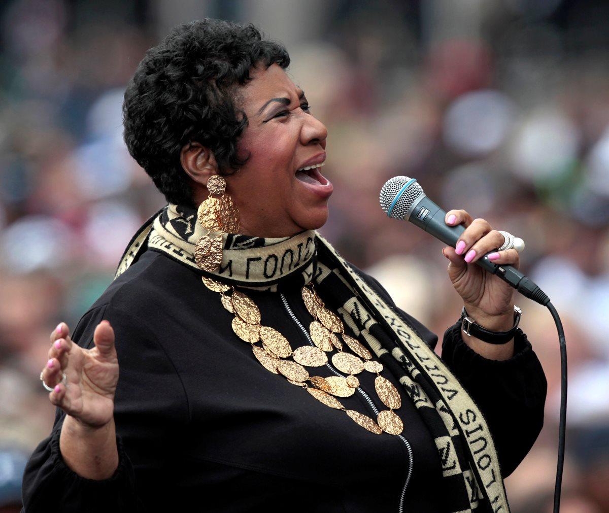 La muerte de Aretha Franklin consternó a varios artistas y personalidades (Foto Prensa Libre: EFE).