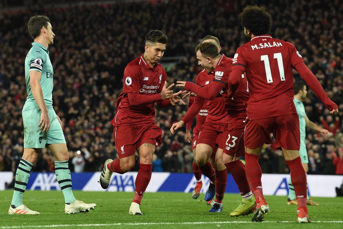 El Liverpoolcierra el añocon goleada y en lo más alto de la Premier
