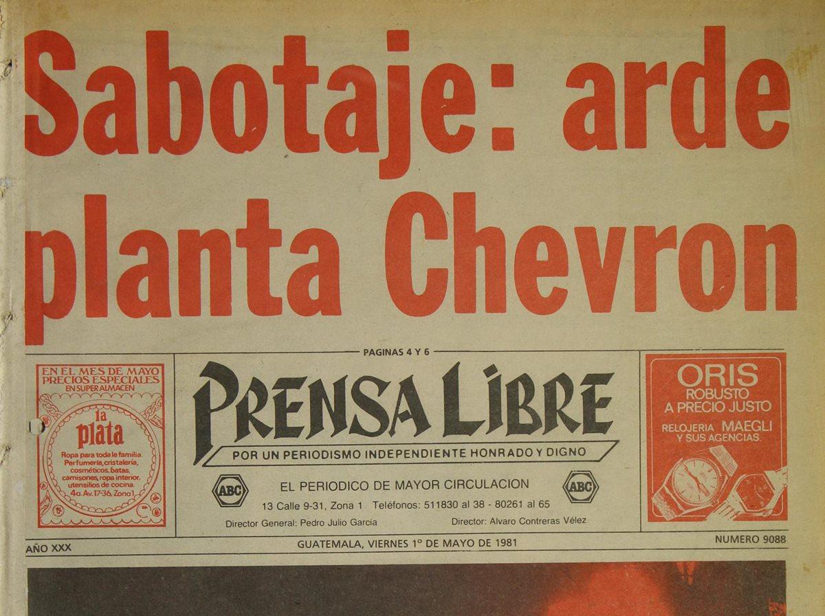 Grupo subversivo incendia planta de Chevron
