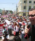 Baldizón, durante una campaña electoral. (Foto Prensa Libre: HemerotecaPL)