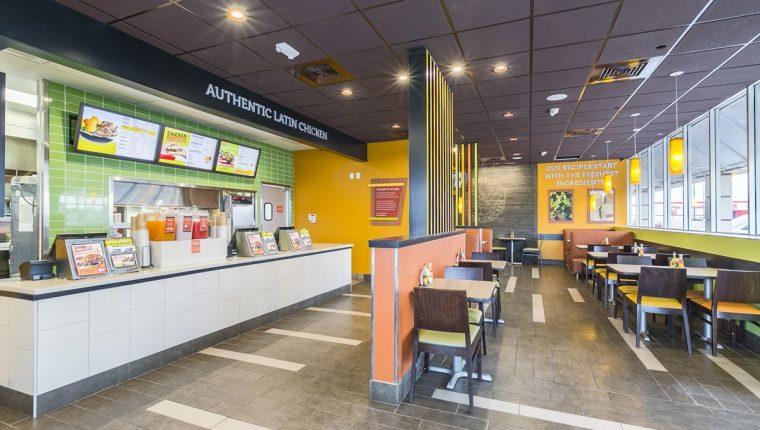 Interior de uno de los restaurantes de Pollo Campero en EE. UU. (Foto Prensa Libre: Cortesía)