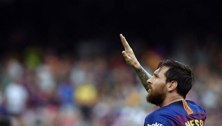 Lionel Messi tiene como objetivo volver a ser campeón de la Liga de Campeones de Europa. (Foto Prensa Libre: AFP)