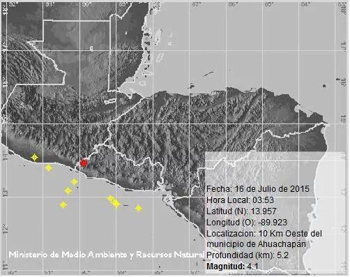 Sismo de magnitud 4.1 remece el oriente