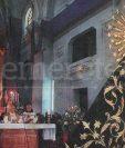 La imagen de la Soledad de la Recolección ya coronada y consagrada el 8 de marzo de 1998. (Foto: Hemeroteca PL)