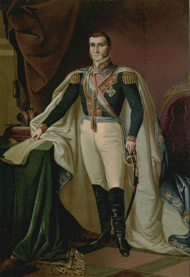 Agustín de Iturbide fue declarado emperador de México con el nombre de Agustín I, después de la independencia de España. (casaimperial.org)