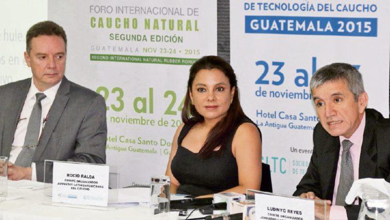 representanteS del sector de caucho en el país presentaron el panorama actual de la materia prima y datos de exportación.