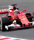 Kimi Raikkonen realizó un buen tiempo en las pruebas de este martes. (Foto Prensa Libre: AFP)