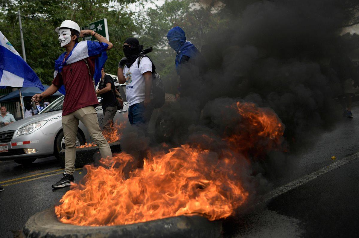 Más de 400 personas han muerto en las calles durante la represión del régimen de Ortega sobra la sociedad nicaragüense. (Foto Prensa LIbre: AFP)