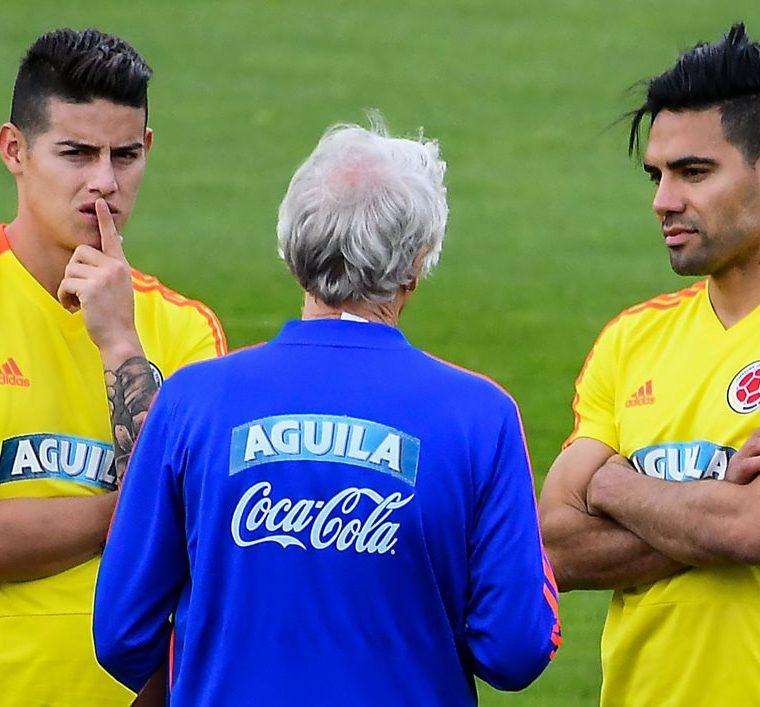 Los dos jugadores esperan ponerse a ritmo con la selección cafetera. (Foto Prensa Libre: AFP)