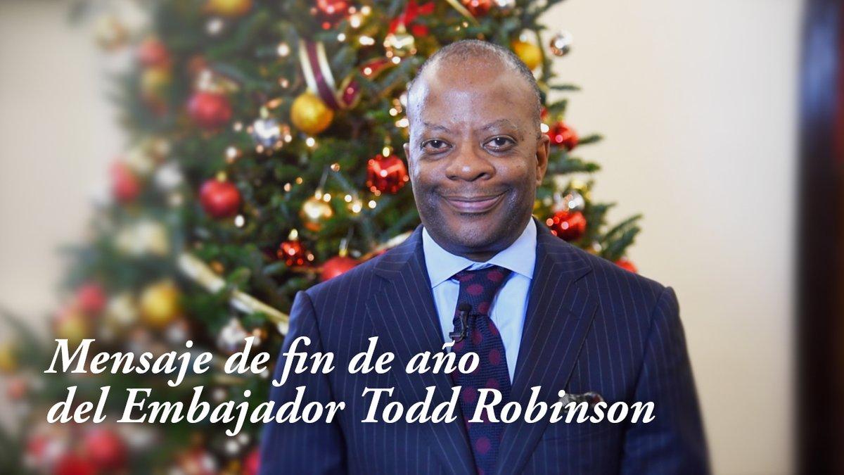 Todd Robinson envía un mensaje de Navidad a los guatemaltecos
