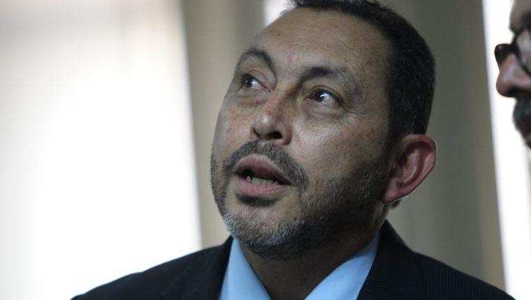 El exministro Mauricio López Bonilla durante la audiencia de este miércoles. (Foto Prensa Libre: Érick Ávila).