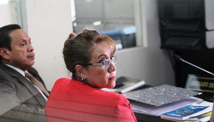 La magistrada separada del cargo Blanca Stalling en audiencia.(Foto Prensa Libre: Archivo)