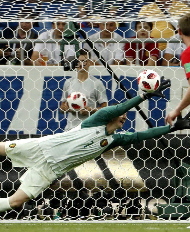 El arquero de 26 años está siendo clave en la buena actuación de Bélgica en el Mundial de Rusia 2018. (Foto Prensa Libre: EFE)