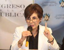 TSE recibió del MP la solicitud para que se inicie el proceso de cancelación del partido Encuentro por Guatemala. Nineth Montenegro es su secretaria general. (Foto Prensa Libre: Hemeroteca PL)