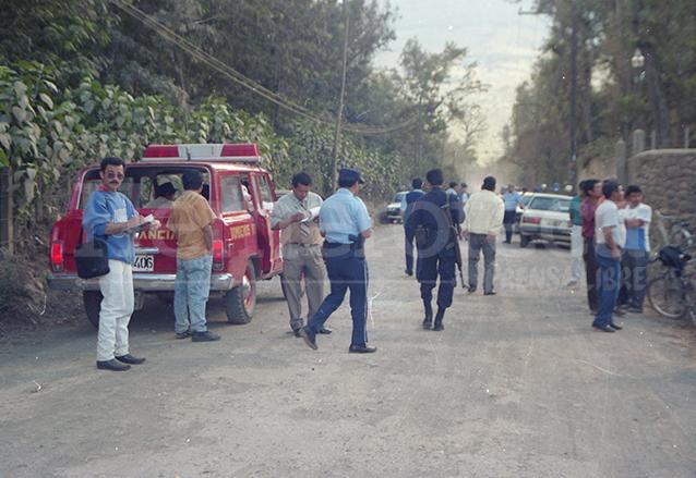 El camino que conduce de Antigua a San Juan del Obispo y donde ocurrieron los hechos el 4 de febrero de 1996. (Foto: Hemeroteca PL)