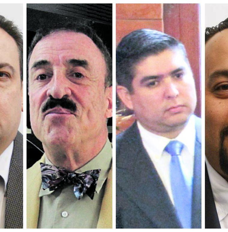 Diputados Julio Lainfiesta, Fernando Linares, Óscar Quintanilla y Jaime Regalado.