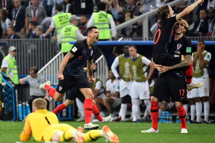 Así celebraron los jugadores de Croacia el pase a la final del Mundial.