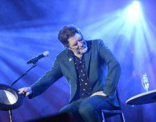 El cantante y compositor Joaquín Sabina durante el concierto que ofreció en Madrid. (Foto Prensa Libre: EFE)