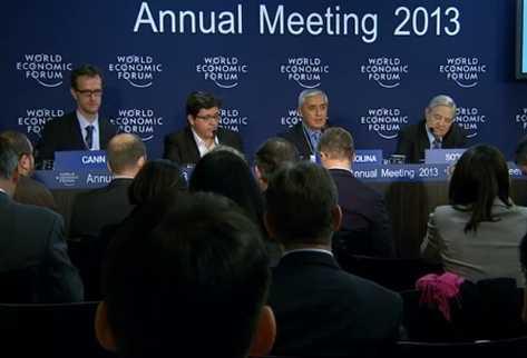 Presidente Otto Pérez Molina participa en conferencia de prensa en Davos, Suiza. (Foto tomada de Internet)