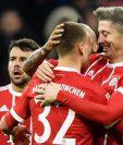 Lewandowski condujó al cuadro bávaro hacia los tres puntos. (Foto Prensa Libre: EFE)