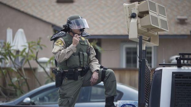 """La policía en EE.UU. tiene acceso a dispositivos acústicos de largo alcance que llaman """"cañones sónicos"""". GETTY IMAGES"""