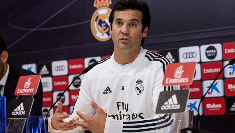 Santiago Solari, técnico del Real Madrid, habló sobre la final de la Copa Libertadores. (Foto Prensa Libre: EFE)
