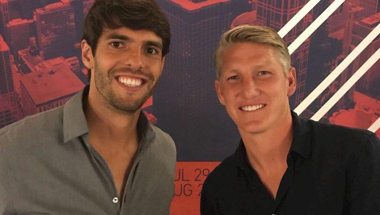Kaká y Bastian Schweinsteiger son parte de la nómina de la MLS para enfrentar al Real Madrid este 2 de agosto en Chicago. (Foto Prensa Libre: Kaká)