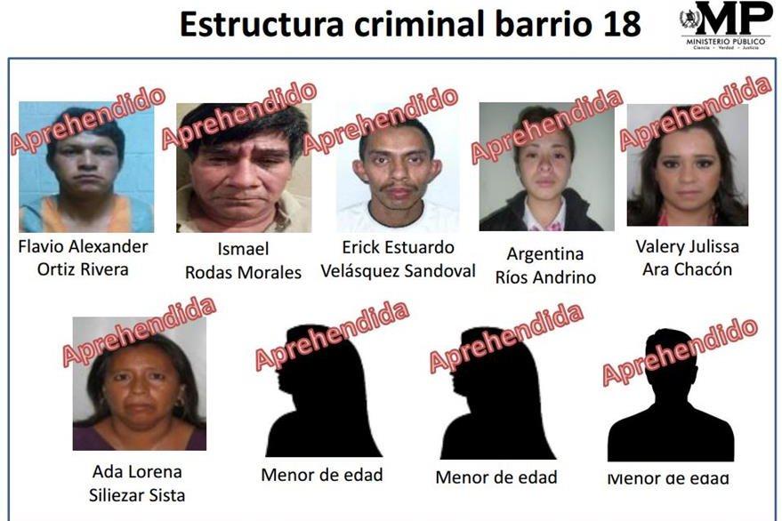 Los supuestos pandilleros que enfrentan un debate. (Foto Prensa Libre: Hemeroteca)
