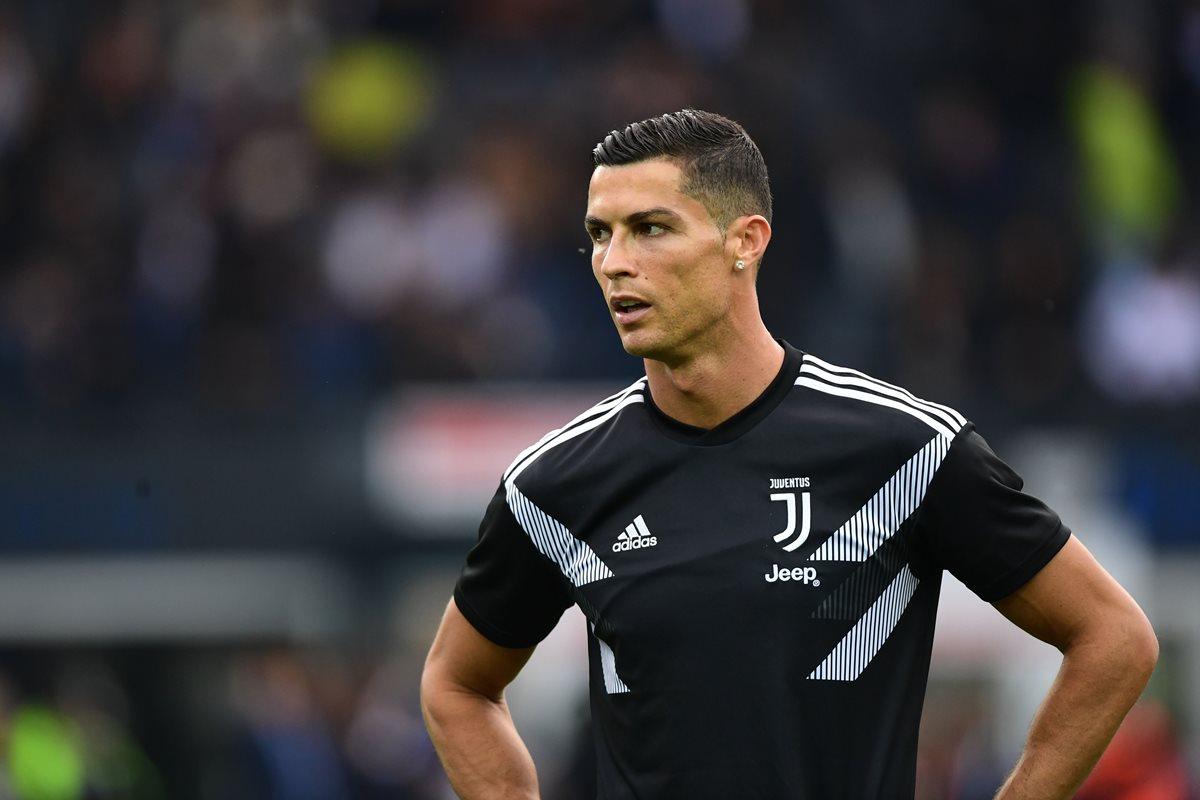 Cristiano Ronaldo, estrella de la Juventus vive momentos de tormento por acusaciones de violación. (Foto Prensa Libre: AFP)