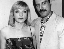 Mary Austin y Freddie Mercury. El vocalista de Queen escribió una de sus mejores canciones para dedicarla a ella (Foto Prensa Libre: Pinterest).