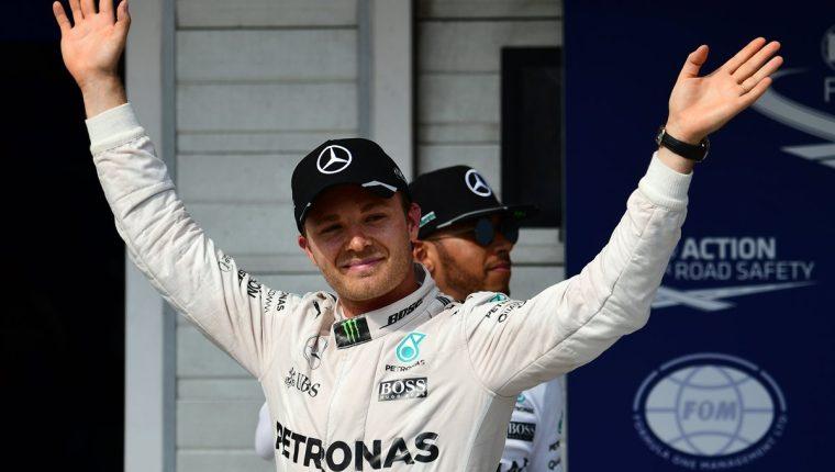 Rosberg quiere otro título y sumó una nueva pole en esta temporada de F1. (Foto Prensa Libre: AFP)