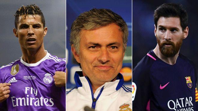 Ronaldo, Mourinho y Messi, tres de los nombres más influyentes en el mundo del fútbol.