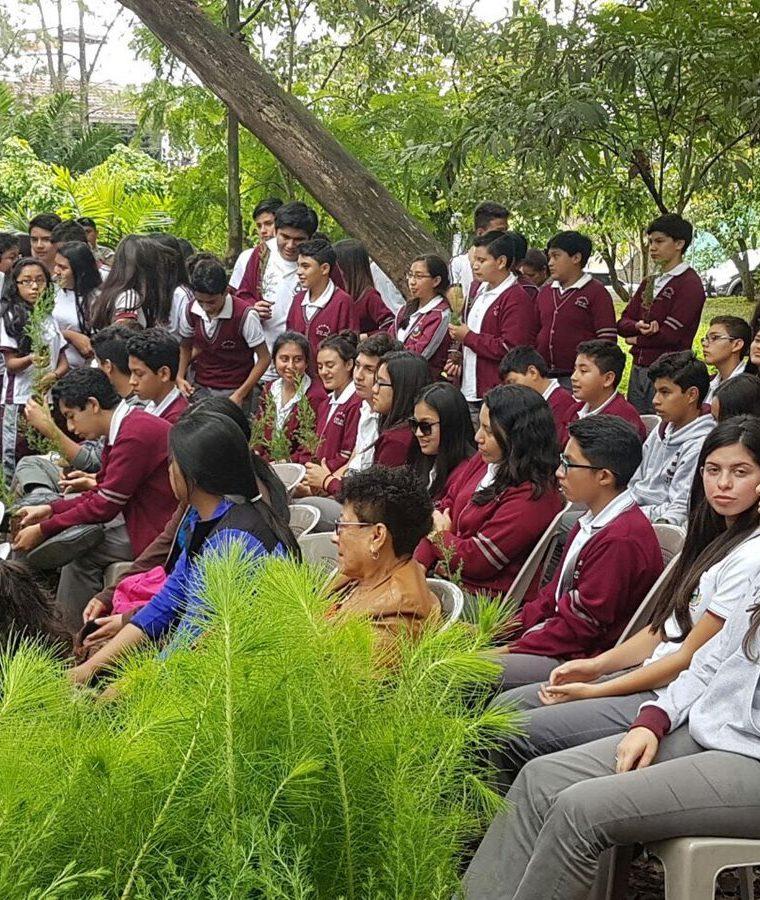 Cada año se llevan a cabo jornadas de siembra de árboles en Las Guacamayas. (Foto Prensa Libre: Cortesía Asociación de Vecinos de Bosques de San Nicolás)
