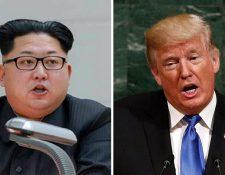 Kim Jong-un y Donald Trump se reunirían en Singapur el 12 de junio luego de constantes roces entre los gobiernos de Corea del Norte y EE. UU. (Foto Prensa Libre: EFE)