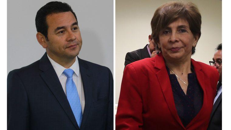Jimmy Morales y Nineth Montenegro son involucrados en investigaciones sobre financiamiento electoral ilícito. (Foto Prensa Libre: Hemeroteca PL)