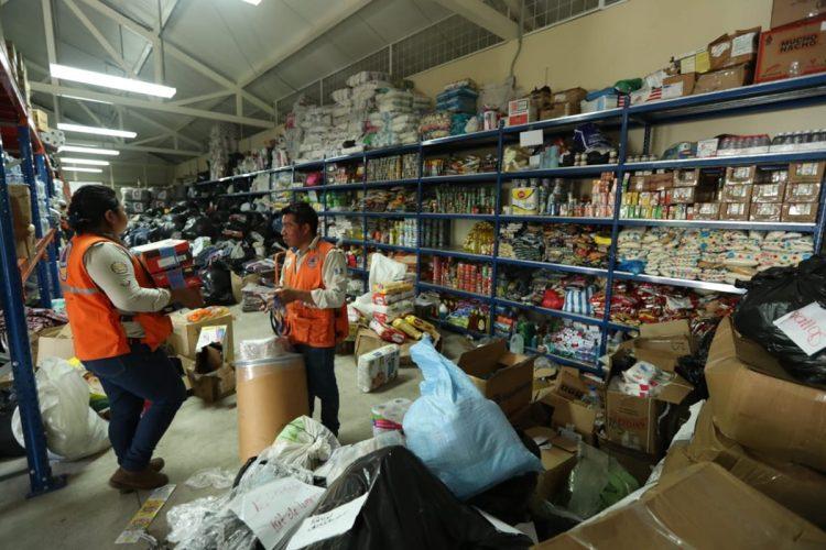 La bodega de CONRED en Escuintla recibe toda la ayuda enviada de los centros de acopio, instituciones y organizaciones.