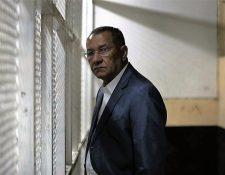 El diputado Arístides Crespo pasó una noche en la carceleta de Tribunales. (Foto Prensa Libre: Érick Ávila)