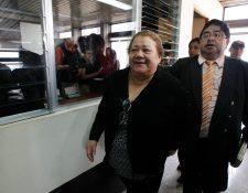 Marta Sierra de Stalling dejó la prisión preventiva en octubre luego de ser favorecida con medida sustitutiva. (Foto Prensa Libre: Hemeroteca PL)
