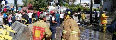 Área donde se registró el incendio en Sanarate. (Foto Prensa Libre: Hugo Oliva).