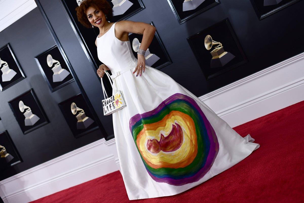 Joy Villa fue criticada por este diseño. (Foto Prensa Libre: AFP)