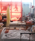 La saturación en varias áreas del Hospital Regional de Cuilapa es evidente. (Foto Prensa Libre: Hugo Oliva)