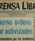 Titular de Prensa Libre del 23 de mayo de 1988. (Foto: Hemeroteca PL)