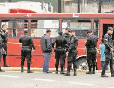 Pasajeros, pilotos y delincuentes, han muerto durante asaltos en diferentes zonas de la metrópoli.(Foto Prensa Libre: Hemeroteca PL)