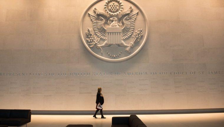 Vista del Consulado de EE. UU. en Londres, Reino Unido. (Foto Prensa Libre: AFP)