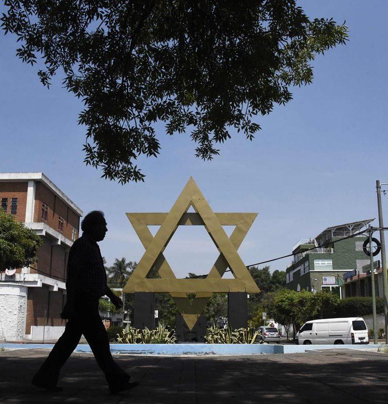 La plaza de Israel ubicada en la ciudad de Guatemala. (AFP).